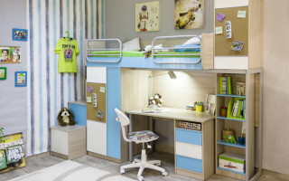 Детский уголок с кроватью и столом в комнате — как оформить