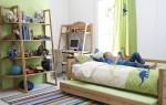 Оформление интерьера детской комнаты в зеленом цвете