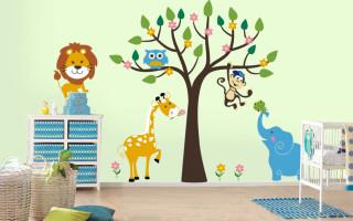 Декор стен в детской комнате своими руками