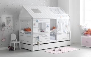 Детская кровать домик для девочки