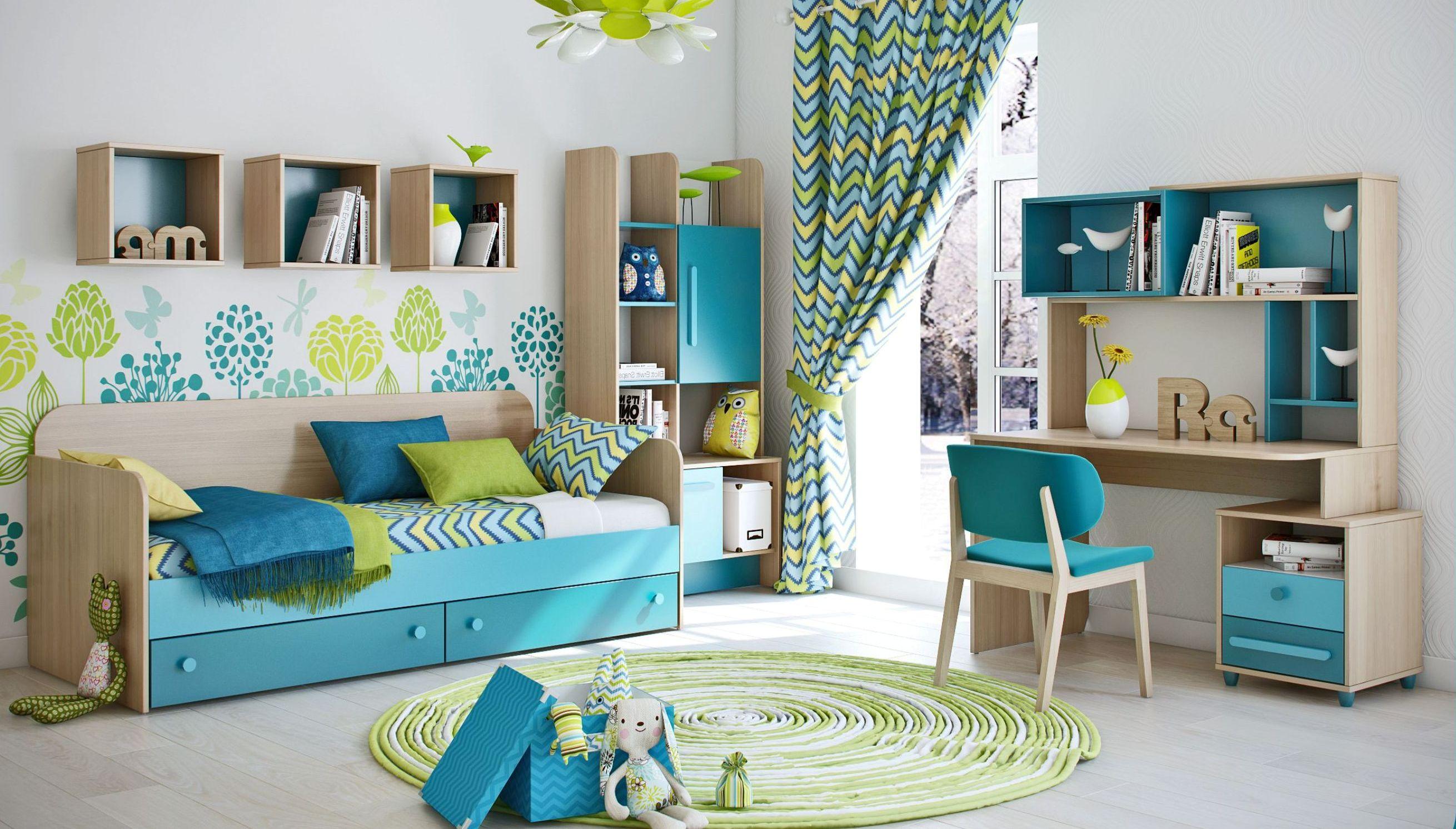 мебель в бирюзовом цвете