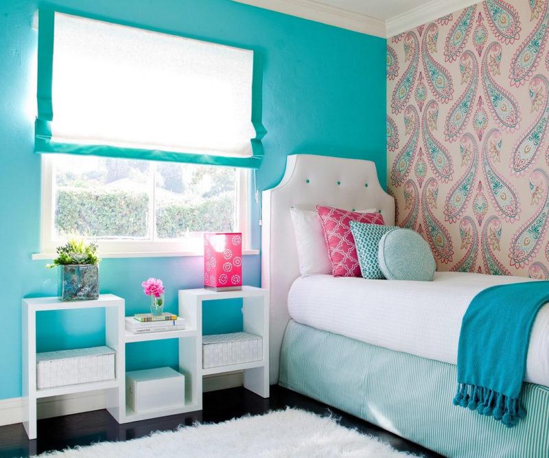 Бирюзовая комната для девочки