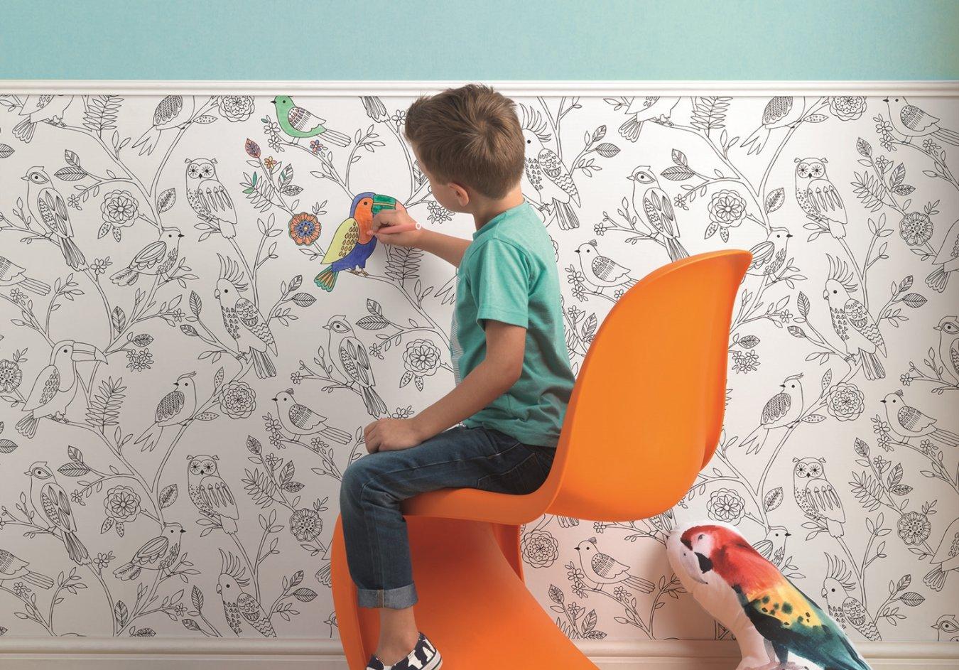 Бумажные детские обои для рисования