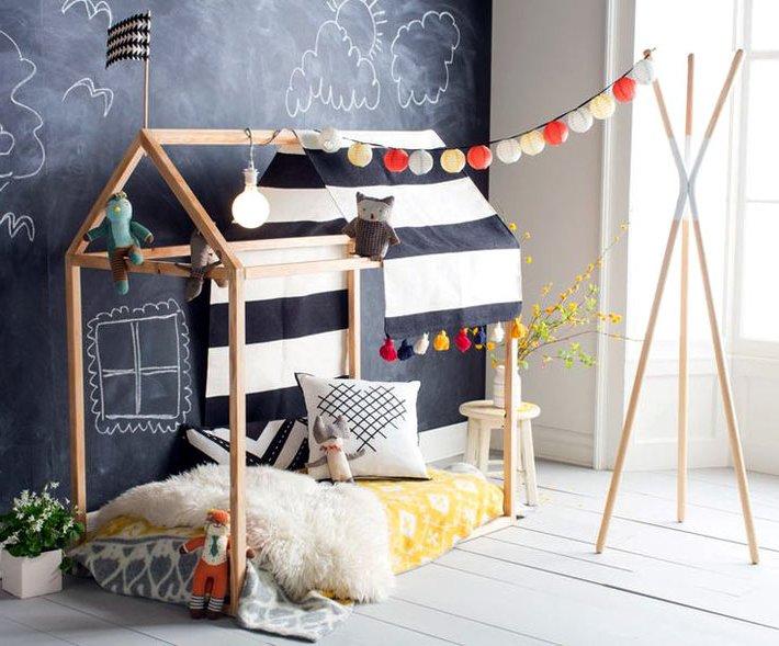 Детская кровать домик для девочки - фото