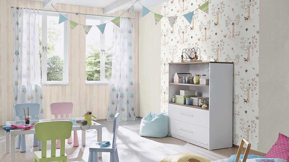 большой выбор флизелиновых обоев для детской комнаты