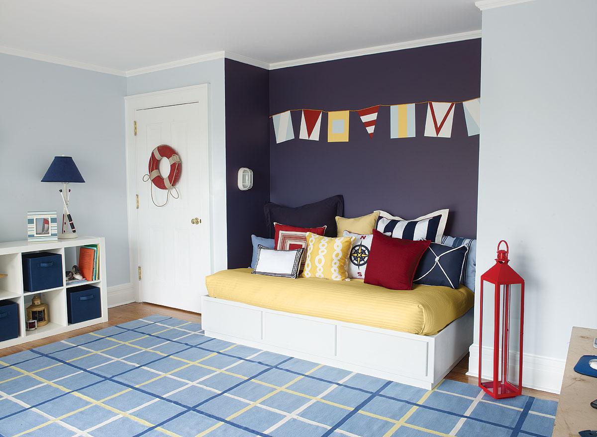какие оттенки подходят для голубой комнаты