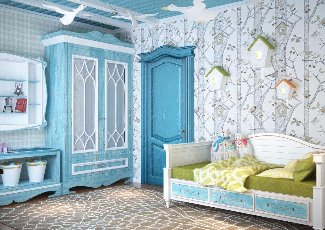 Шкаф в голубом цвете