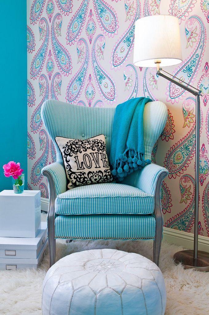 Мебель в голубом цвете - кресло