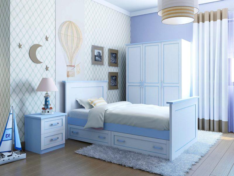 Голубая комната для мальчика