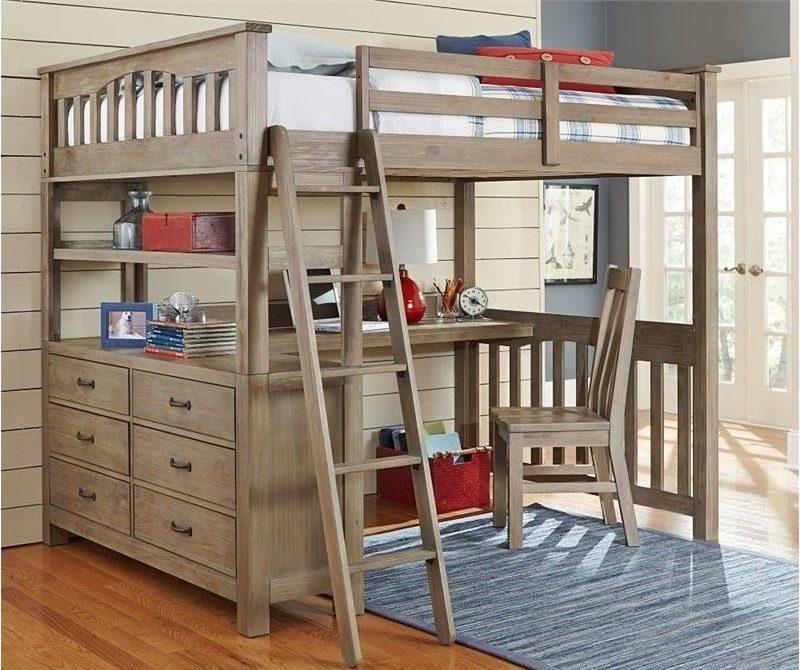 Кровать чердак для мальчика из натурального дерева