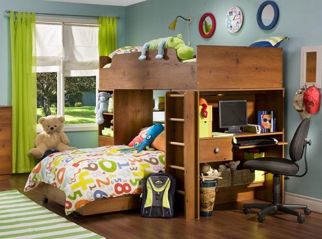 Кровать чердак для мальчика с кроватью снизу