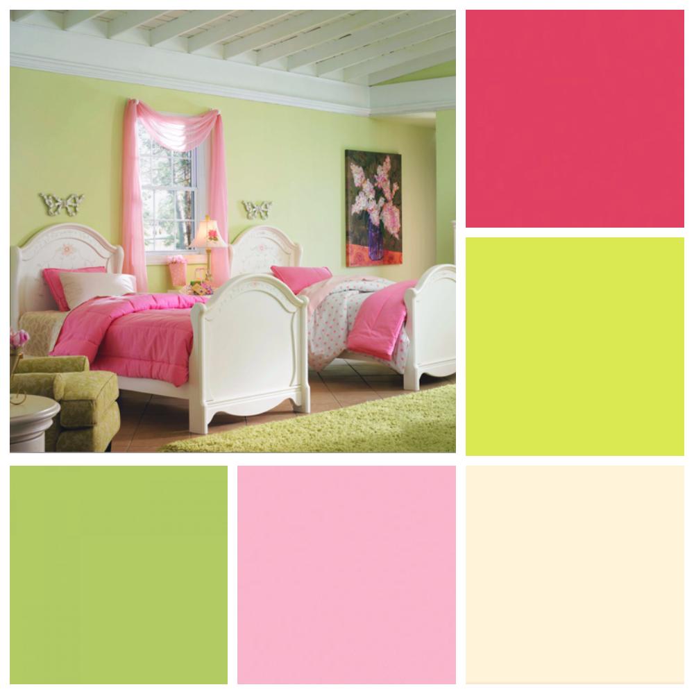 желто розовая детская для девочки