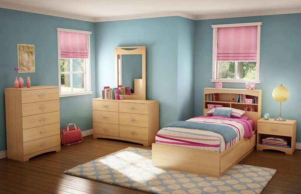 Розово голубая детская для девочки