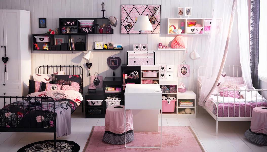 черно розовая детская для девочки