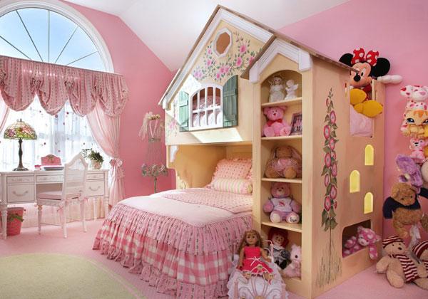 Детская для девочки в розовом стиле