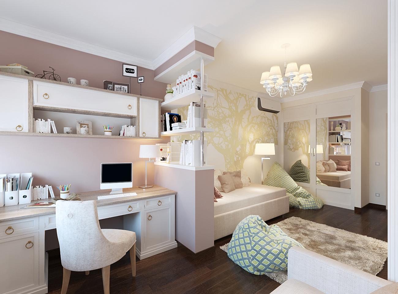 Оформление белой детской комнаты