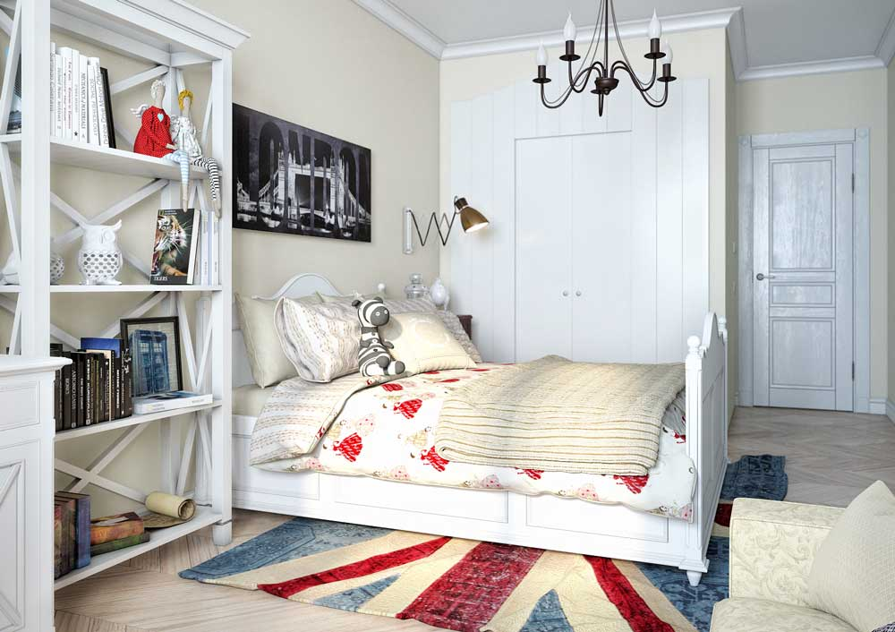 Белая детская комната для мальчика