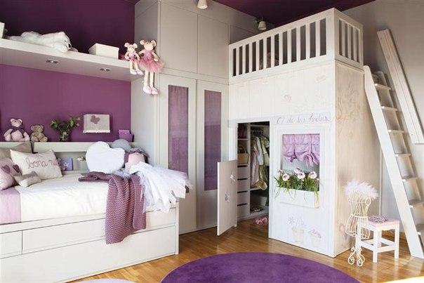 Бело-фиолетовая детская