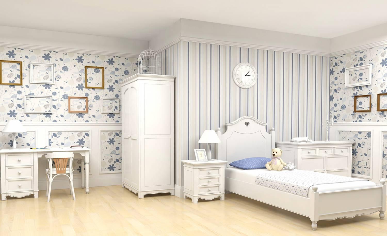 Белая детская комната