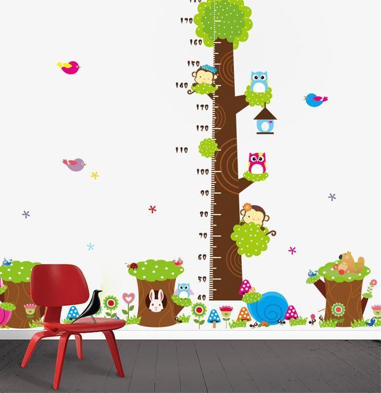 оформление стен в интерьере детской
