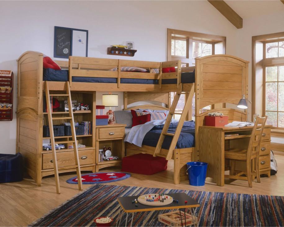 Детский уголок с кроватью и столом в комнате — как оформить фото