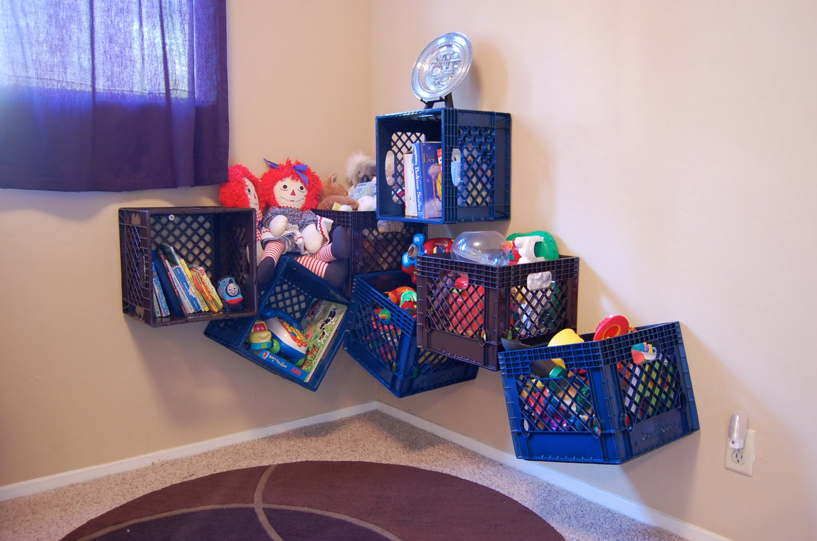 подвесное хранение игрушек