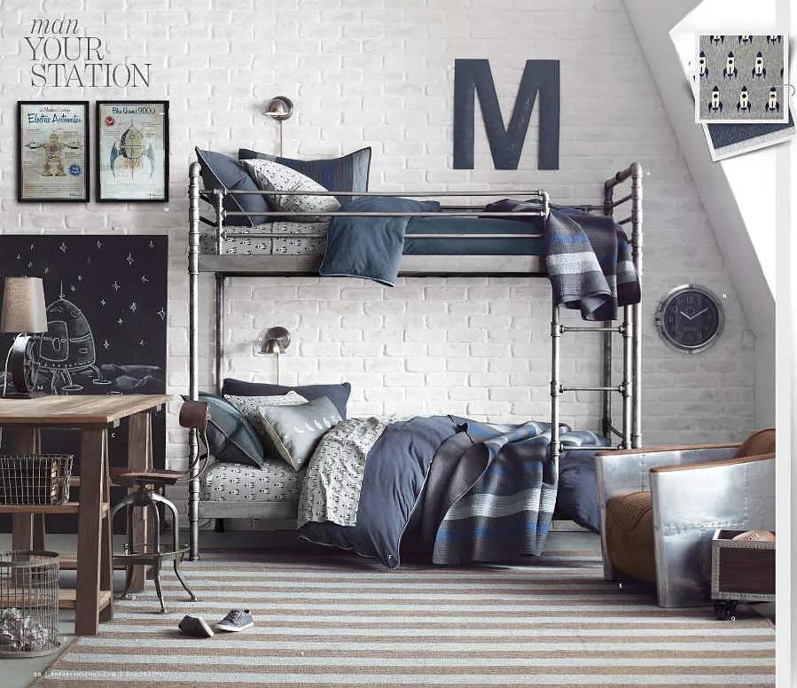 Двухярусная кровать в детской стиль лофт
