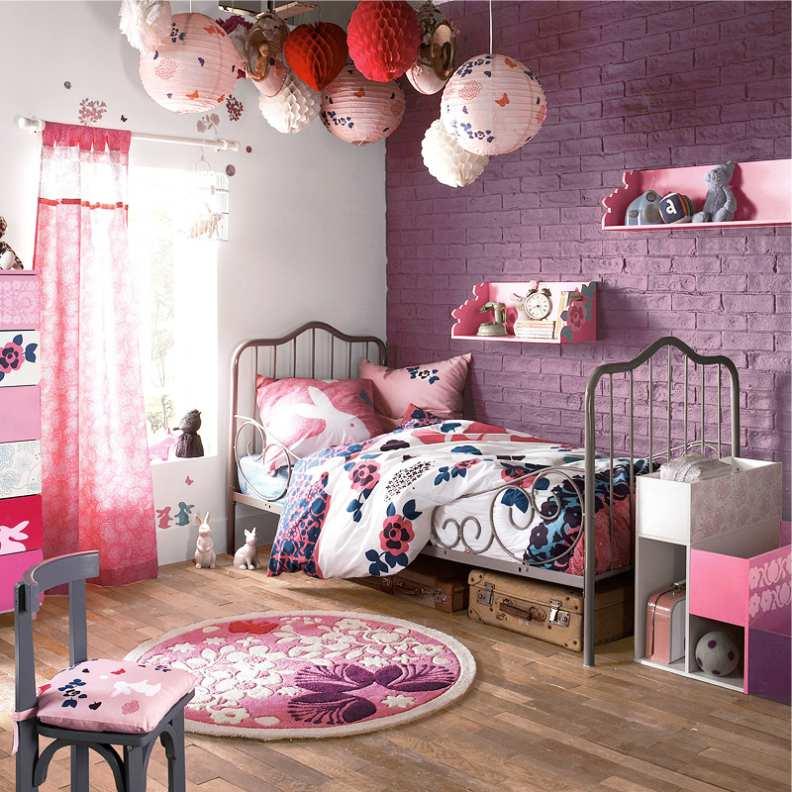 кованная кровать для девочки в стиле лофт