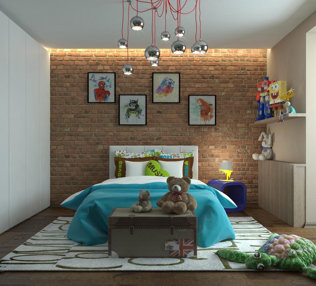 Стиль Лофт в детской спальне - фото