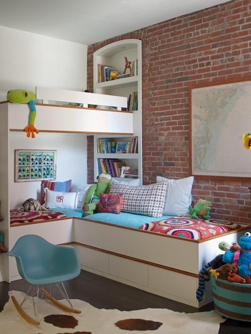 Спальня в стиле лофт для девочки