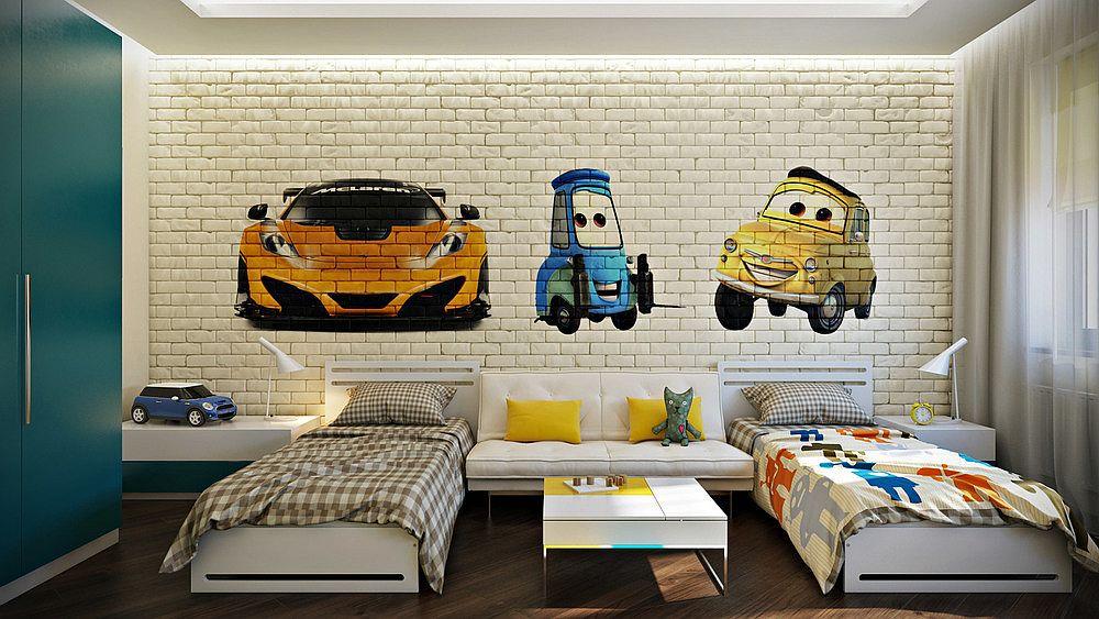Спальня детской в стиле лофт