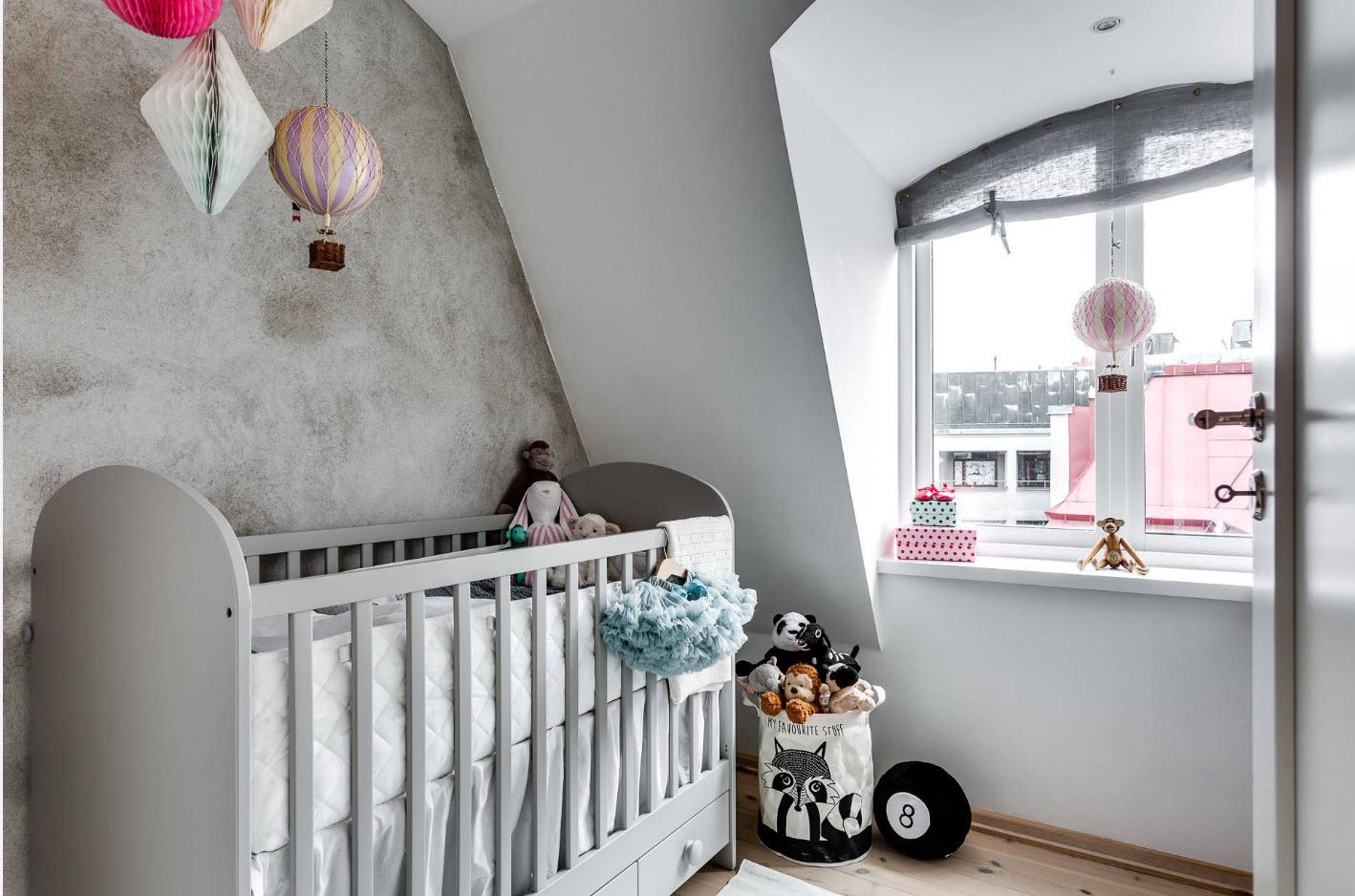 Спальня в стиле лофт для самых маленьких