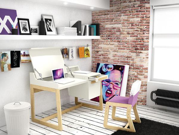 комната в стиле лофт для девочки