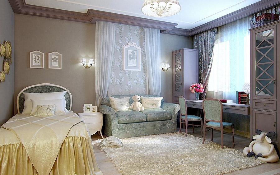 Мягкая мебель в классическом стиле в детской