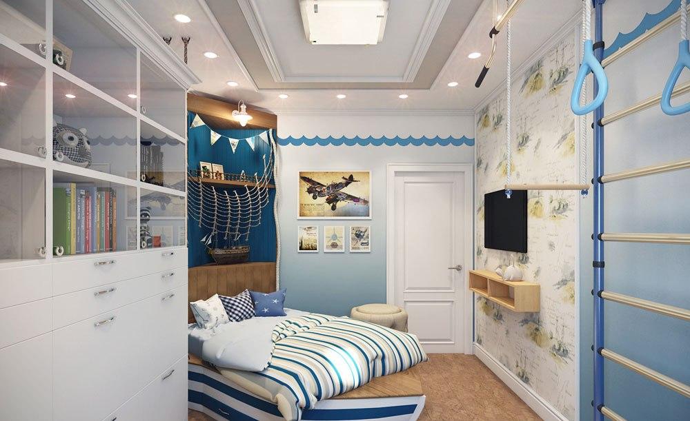 Детская комната в светлых оттенках