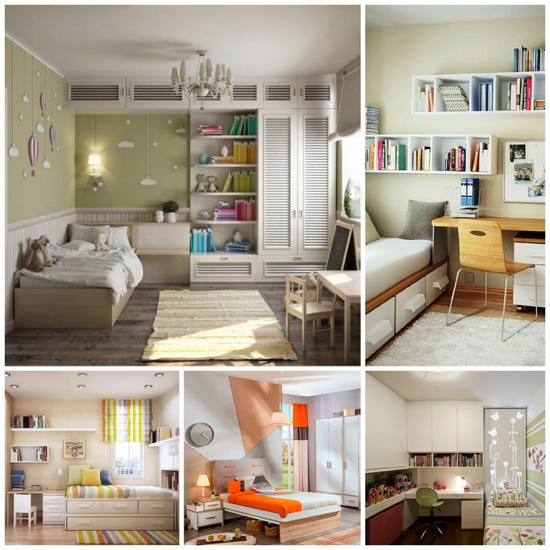 расстановка детской мебели в маленькой комнате