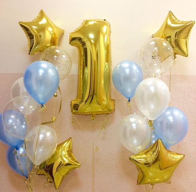 праздничные шарики на день рождения мальчику
