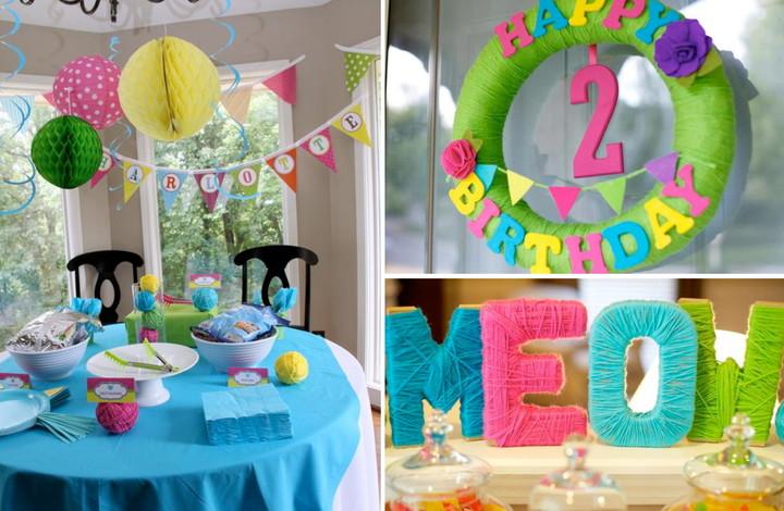 Украсить комнату на день рождения девочки