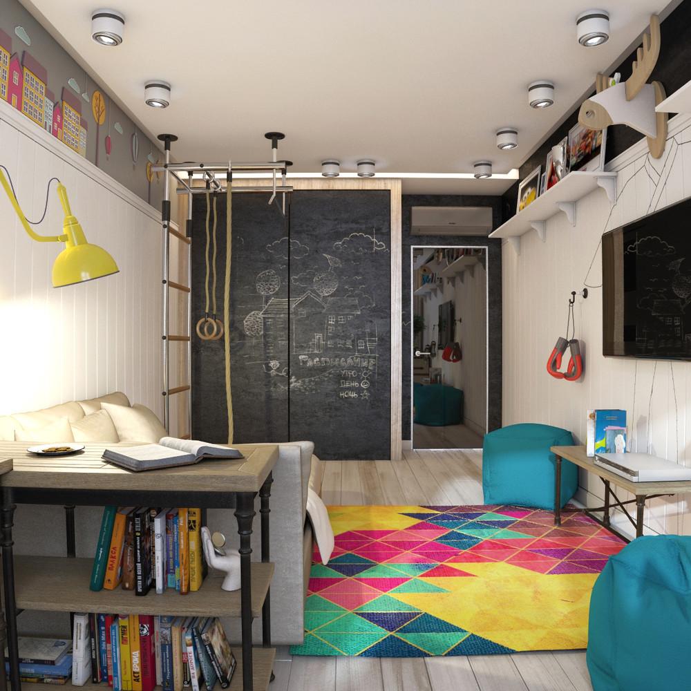 место для рисования в детской комнате